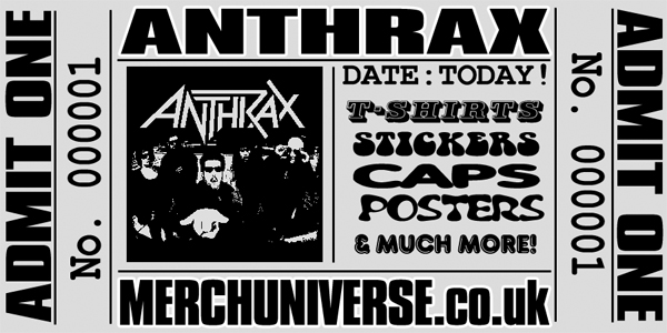 Anthrax T-shirts and Merchandise