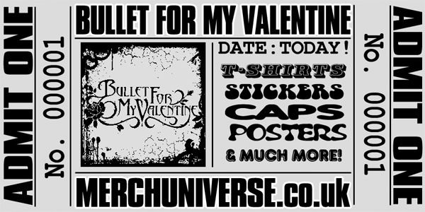 Bullet For My Valentine T-shirts and Merchandise