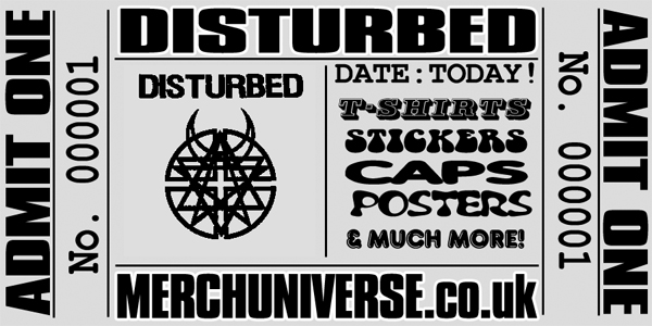 Disturbed T-shirts and Merchandise