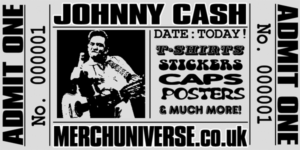 Johnny Cash T-shirts and Merchandise