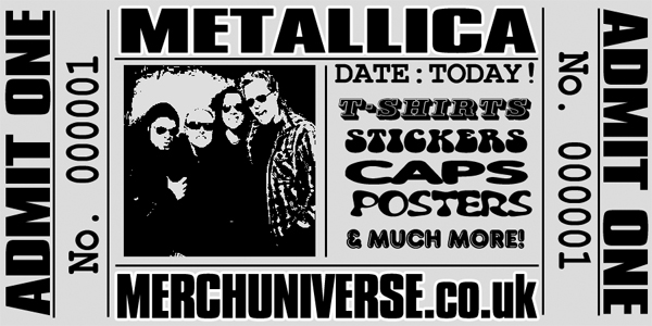 Metallica T-shirts and Merchandise