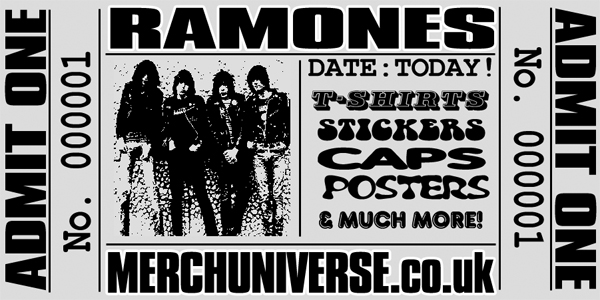 Ramones T-shirts and Merchandise