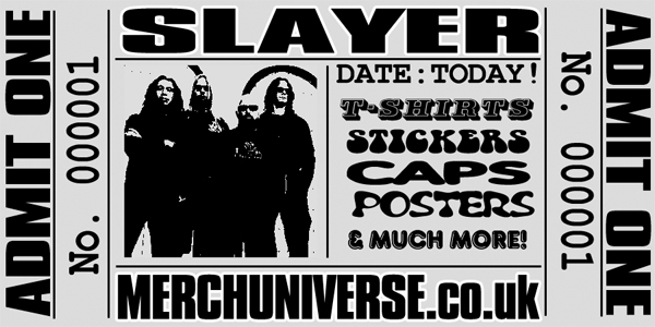 Slayer T-shirts and Merchandise